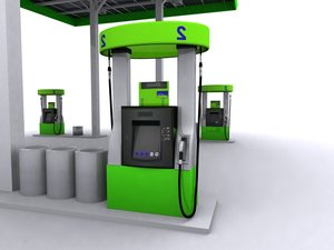 gas station 3d max