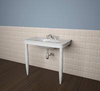 3ds max bathroom hatria dolcevita consolle