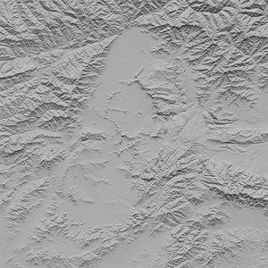 3d model kabul terrain