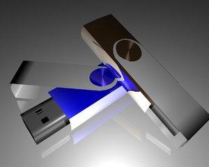 usb key storage drive 3d ma