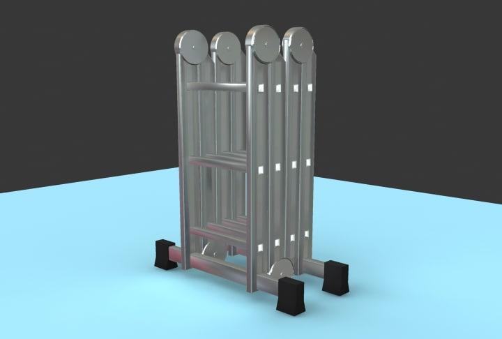 3d model portable ladder