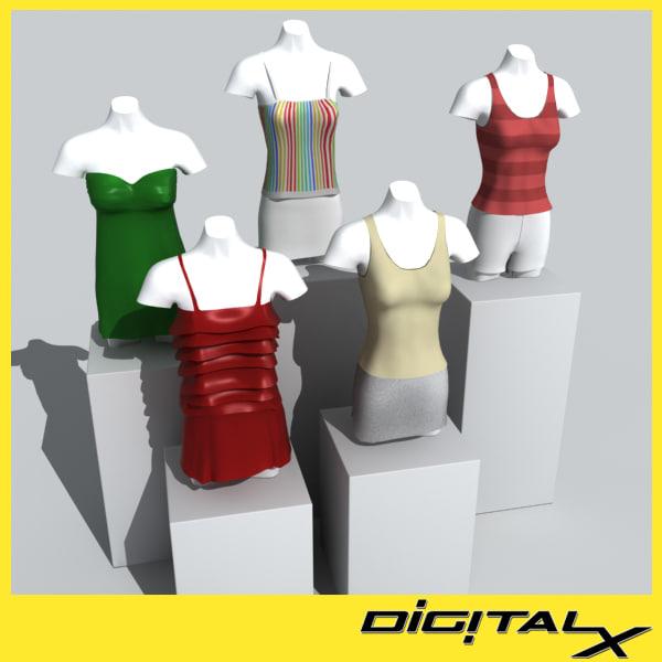 mannequins 3d max