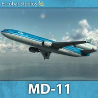 mcdonnell douglas md-11 3d x