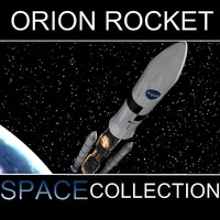 orion rocket 3d model
