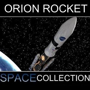 orion rocket 3d model
