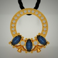 3d model gold jewels jewellery