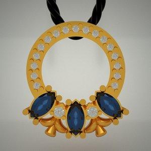 3d model gold jewels jewellery