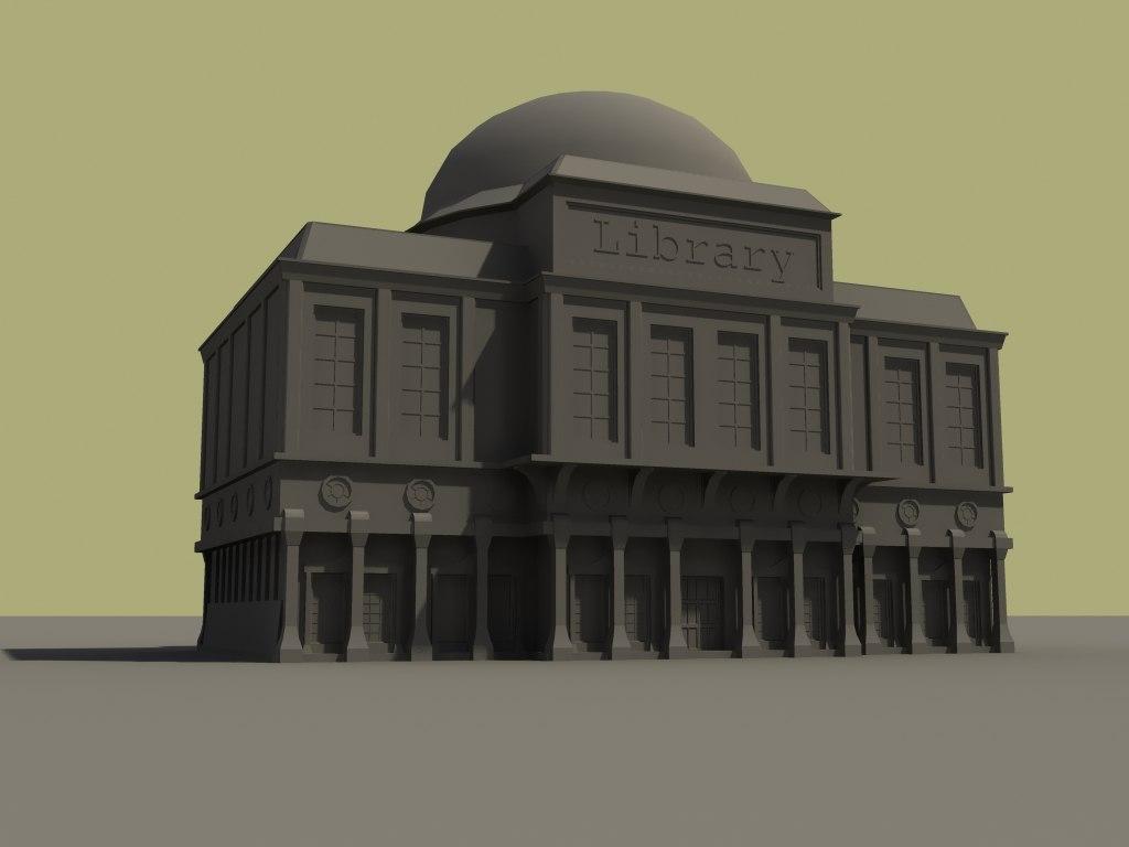 renaisance building 3d max