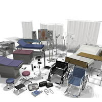 medical equipment vol 1 3d model