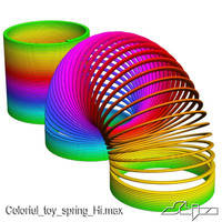 3ds max colorful toy spring