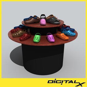 3ds shoe rack