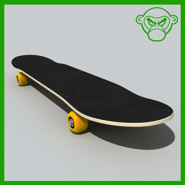 3dsmax skateboard board skate