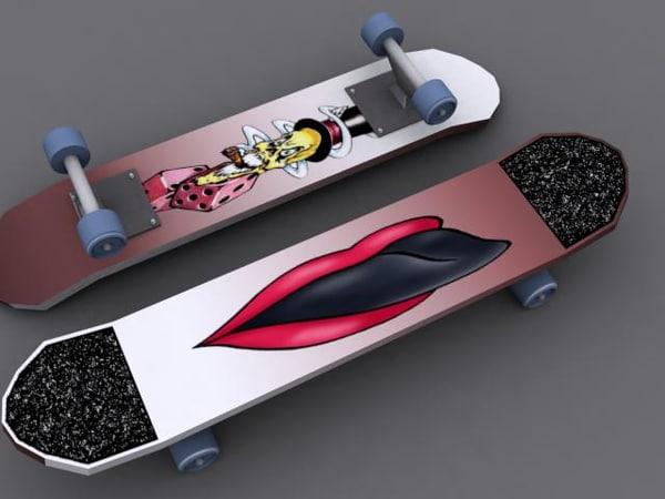 3d skateboard 8