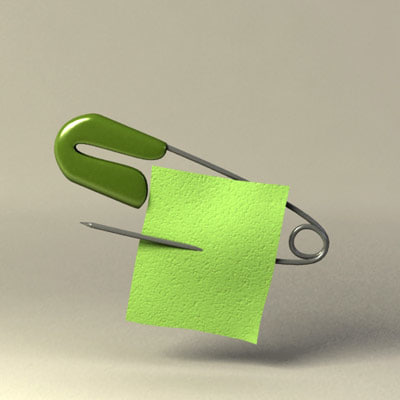 3ds max safety pin