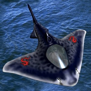 3d aeroplane fighter shark alien spaceship