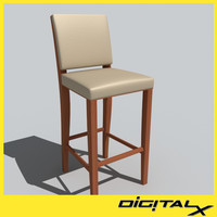 chair stools 3d model