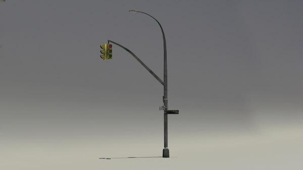 street light obj