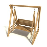 Wooden Swinging bench