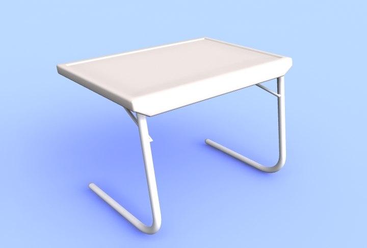 3d portable table model