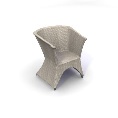 3d model rattan tub chair