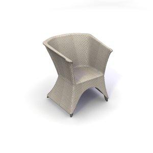 3d model rattan tub chair