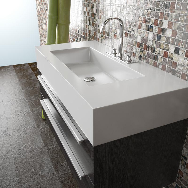 3d Bathroom Wash Basin Tona T1000 Model