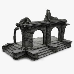 old ruin obj
