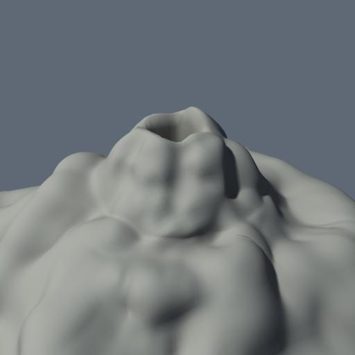 3d model volcano mountain terrain