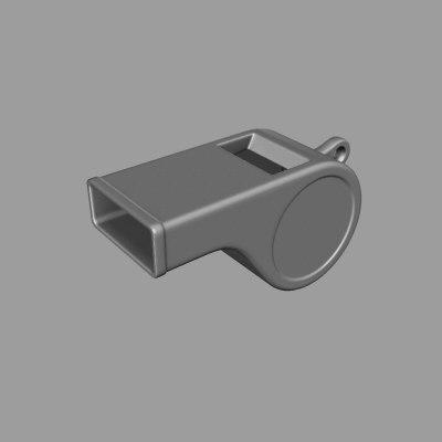 whistle 3d model