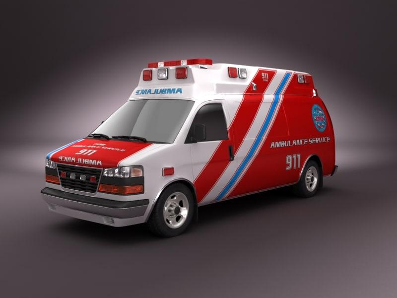 3ds max emergency ambulance