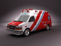 3ds max emergency ambulance