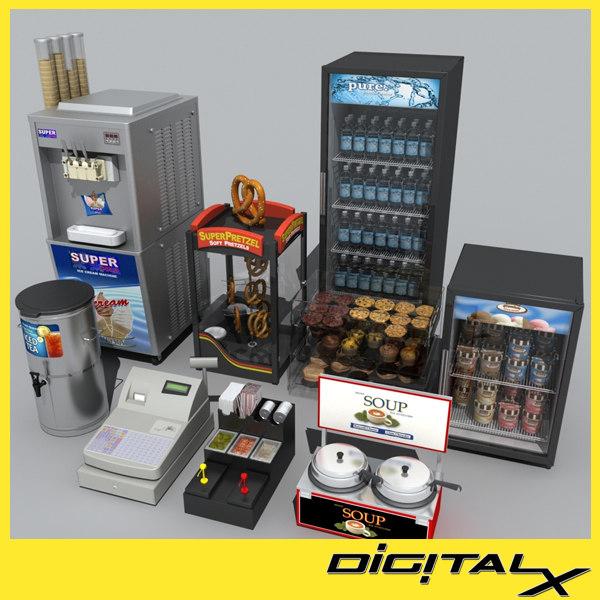 3d register refrigerator model