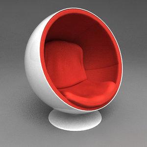 designers ball chair 3d model