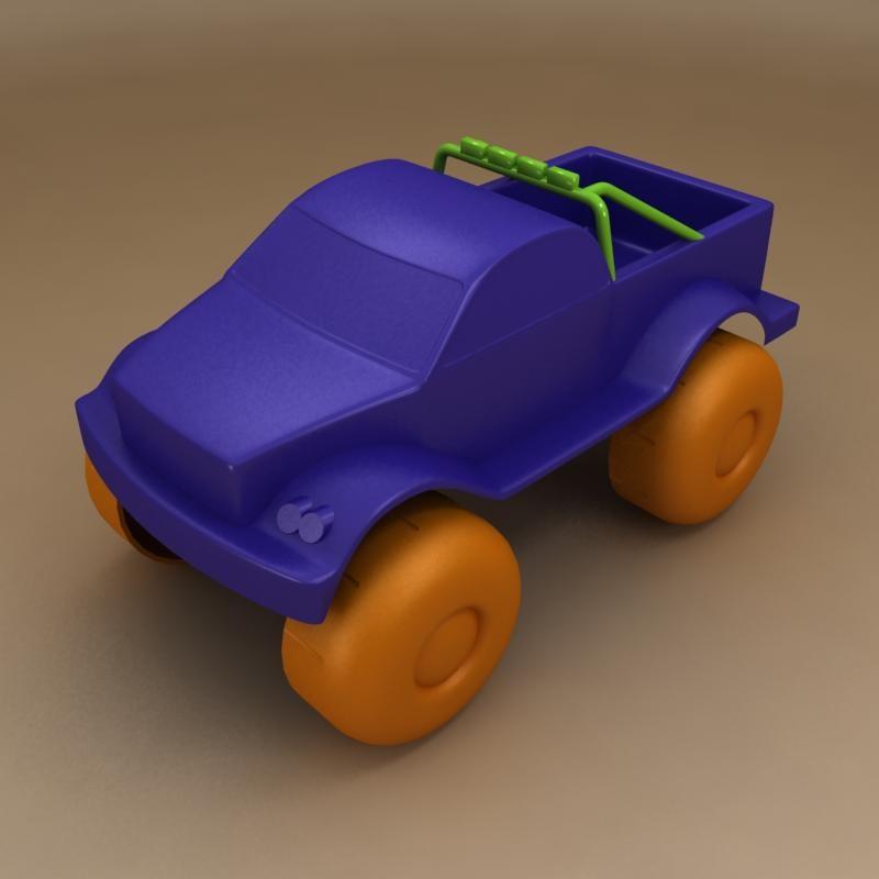 toy pickup 3d model