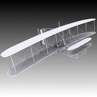 1903 wright flyer 3d model