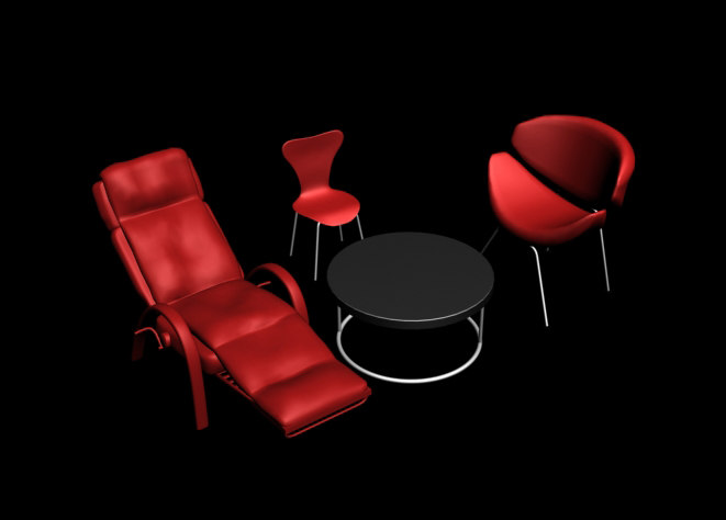 pack chairs 3d model