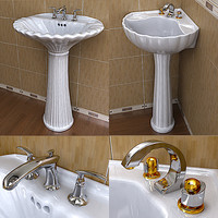 2 St.Thomas Creations Pedestal Lavatory & Faucet Collections