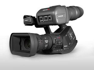 3d model sony ex3 camera