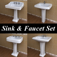 4 Rectangular Pedestal Lavatory & Faucet Collections