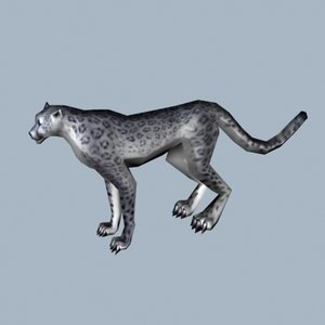 3d model snow cheetah leopard