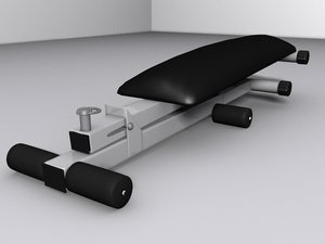 free exercises table 3d model