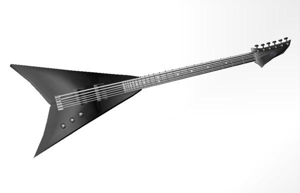 3d model rock guitar