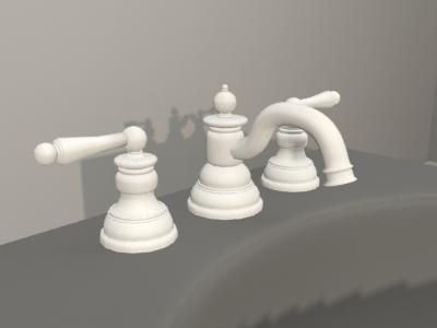 3d model moen bath faucet