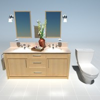 max bathroom counter set