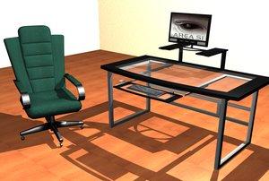 maya computer desk chair zipped