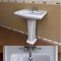 TOTO Clayton Sink & American Standard Faucet Set