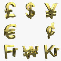 currency symbols c4d