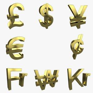 currency symbols c4d