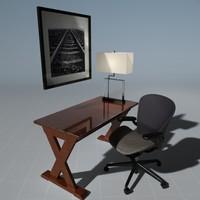 3dsmax office desk