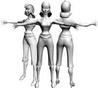 3d model women